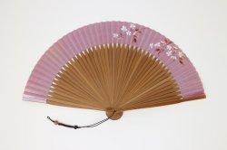 画像1: <琳風扇> 手描き 桜花図