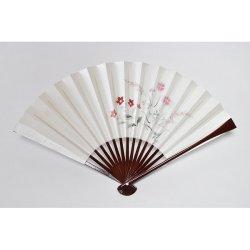 画像1: <琳風扇> 手描き 桔梗撫子図