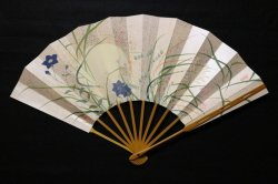 画像1: 武蔵野図 (ごま竹扇子立・桐箱入)